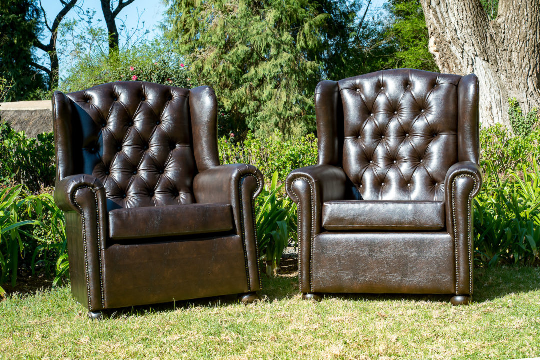 Laurie Kohrs  Leather Chesterfield Wingbacks
