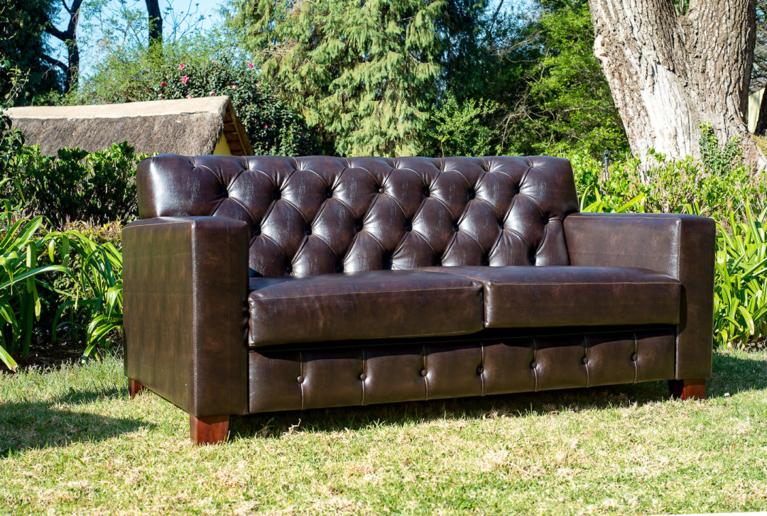 Laurie Kohrs Leather Chesterfield