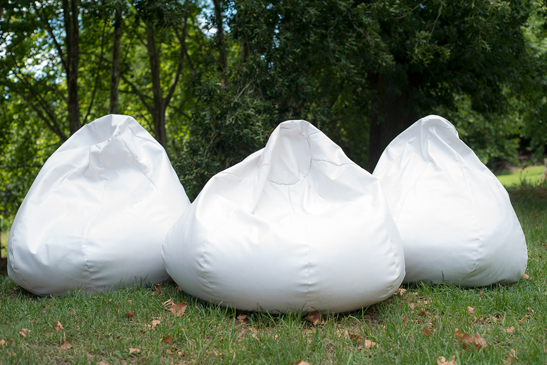 Laurie Kohrs White Bean Bags Midlands Wedding Seating