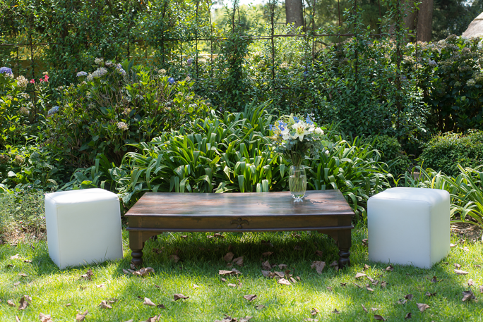 Laurie Kohrs White Ottomans Midlands Wedding Seating