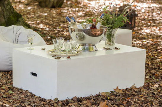Laurie Kohrs Occasional table - contemporary event and wedding furniture