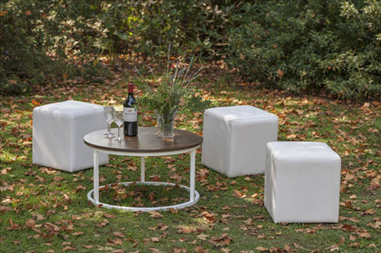 Laurie Kohrs Round Table Occasional contemporary event and wedding furniture