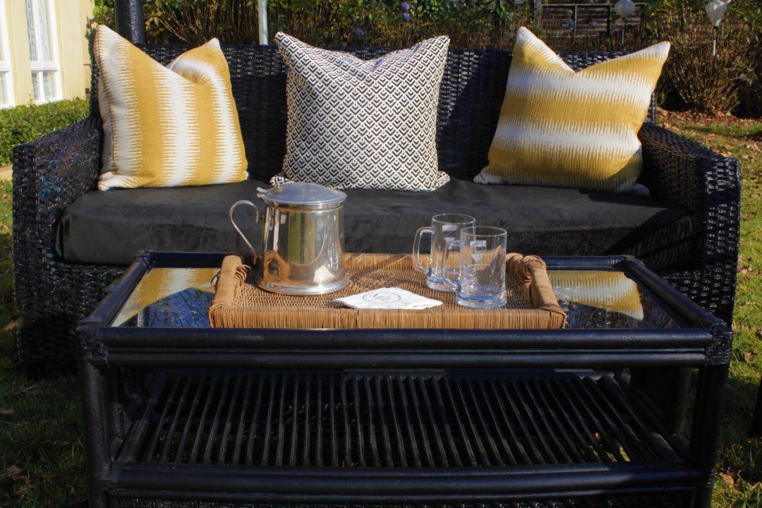 Laurie Kohrs Black Cane Table