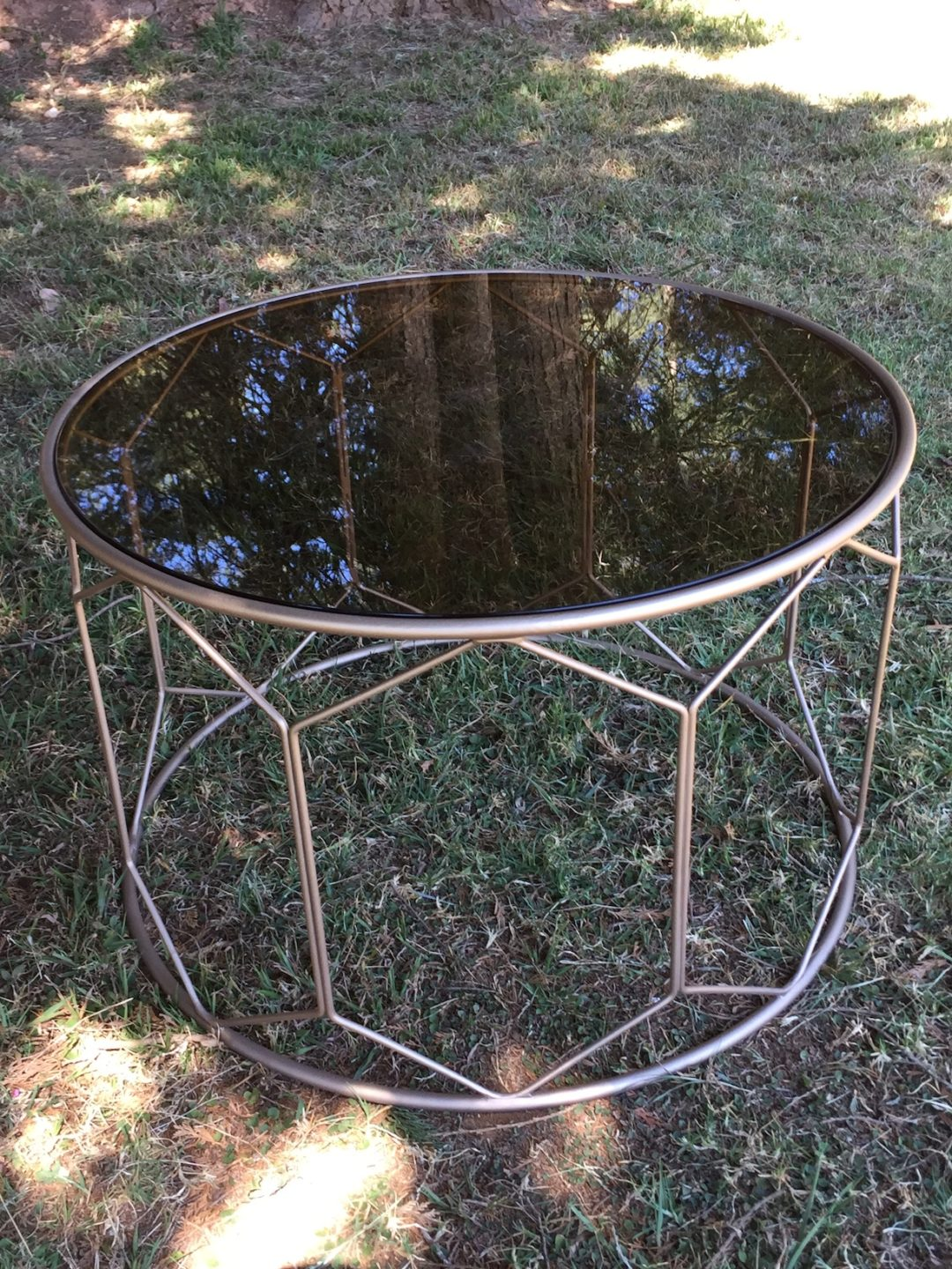 Laurie Kohrs Gold Geometric Table