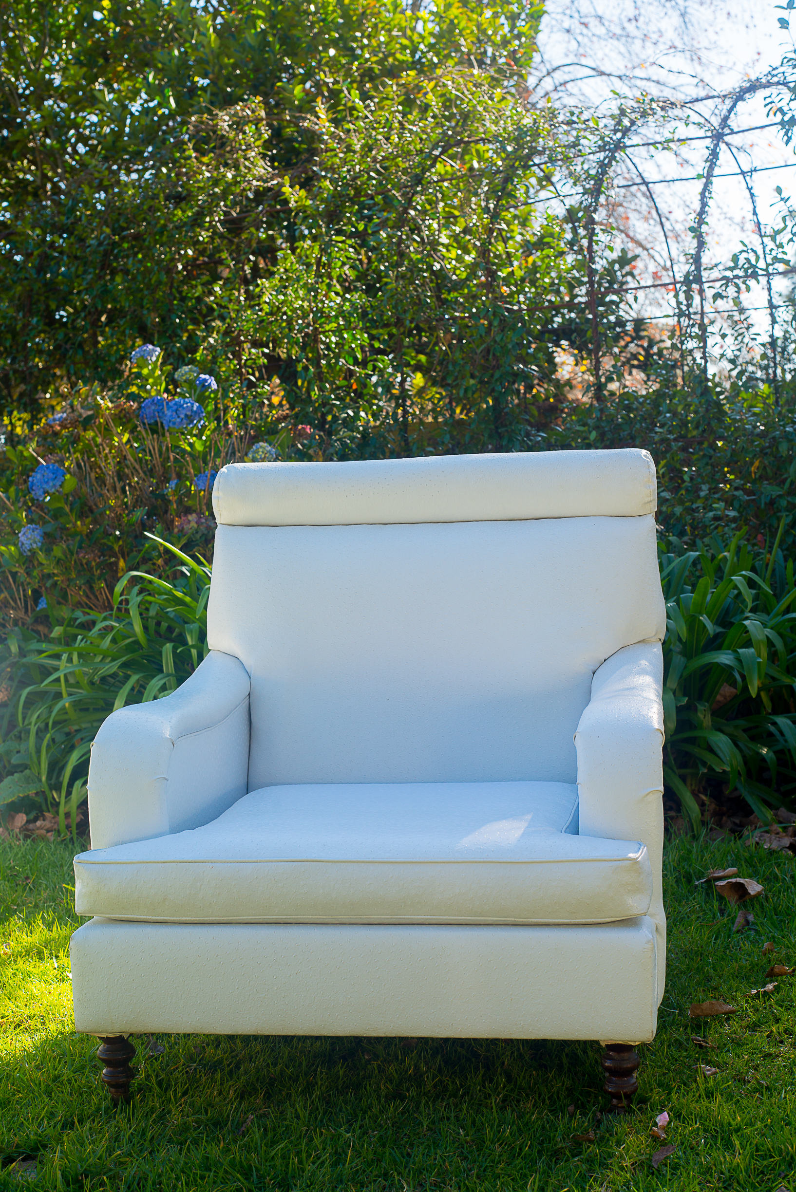Laurie Kohrs High Backed Wing Chairs Ostrich Skin Furniture Hire Weddings KZN Midlands